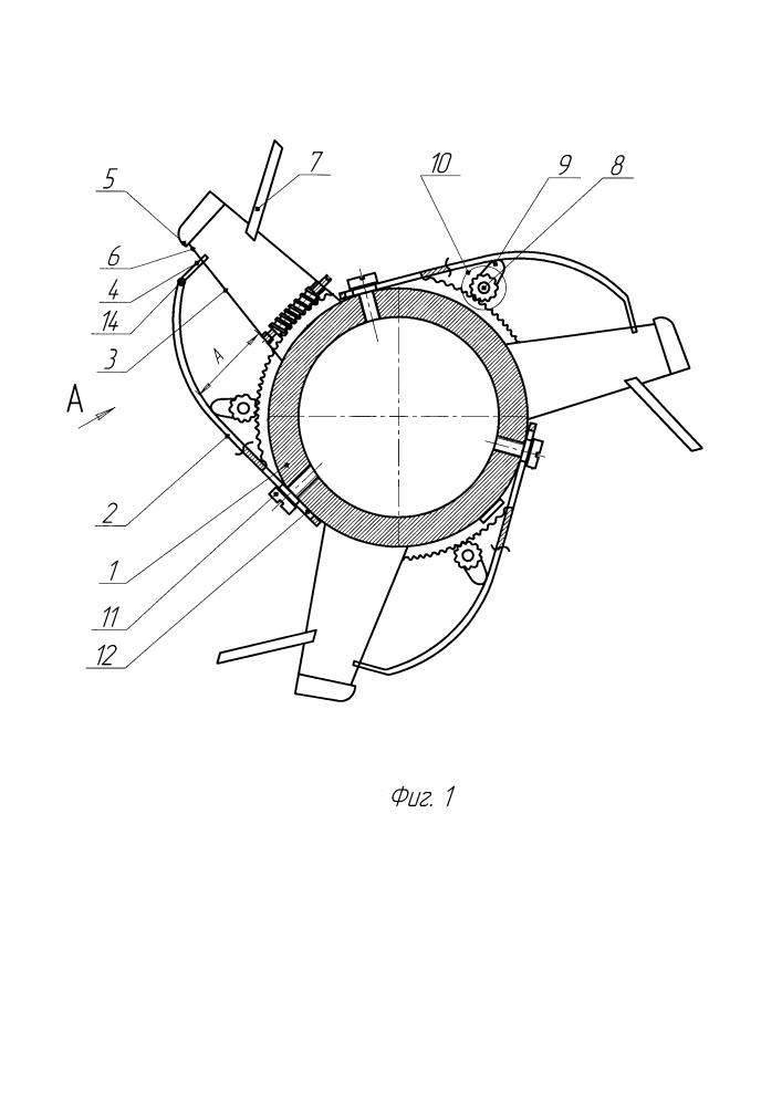 Щелевой битер молотильно-сепарирующего устройства