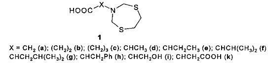 Способ получения n-(1,5,3-дитиазепан-3-ил)карбоновых кислот