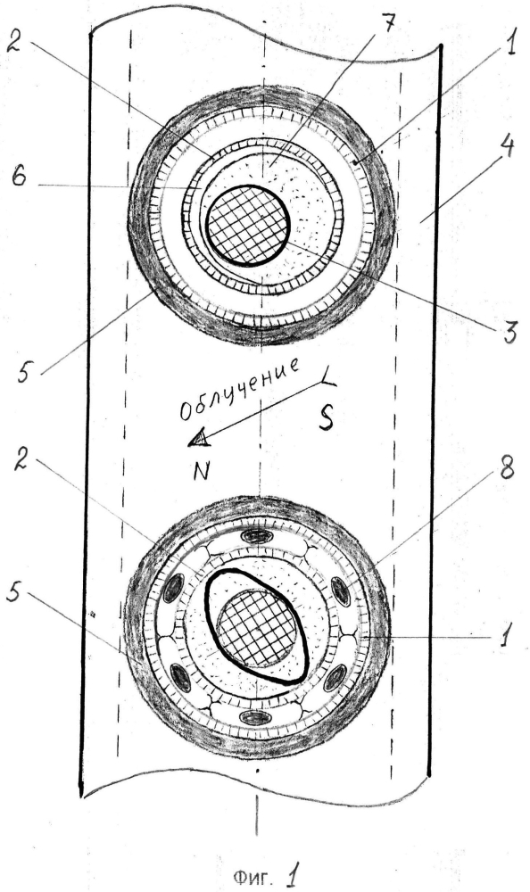 Трубчатая панель солнечного коллектора