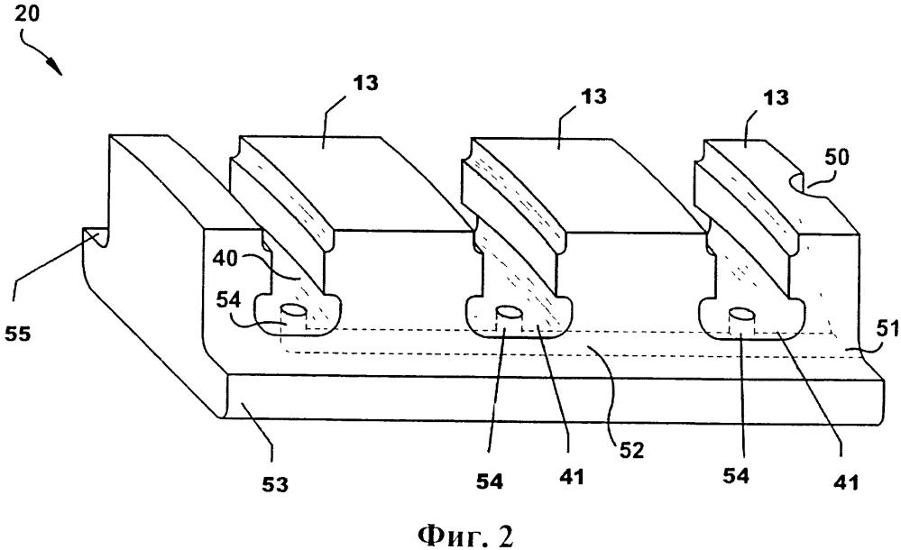 Ротор турбины, имеющий впускной и выпускной вкладыши для формирования охлаждающего контура, и турбина