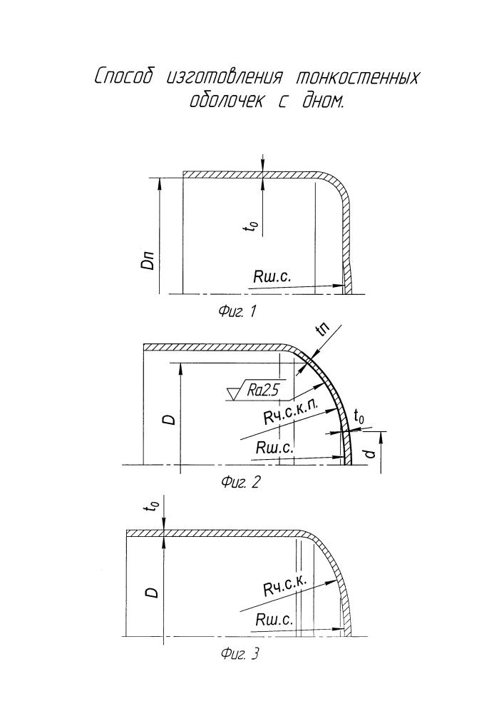 Способ изготовления тонкостенных оболочек с дном