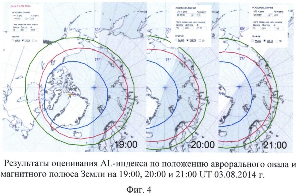 Способ определения положения аврорального овала и состояния магнитного поля земли