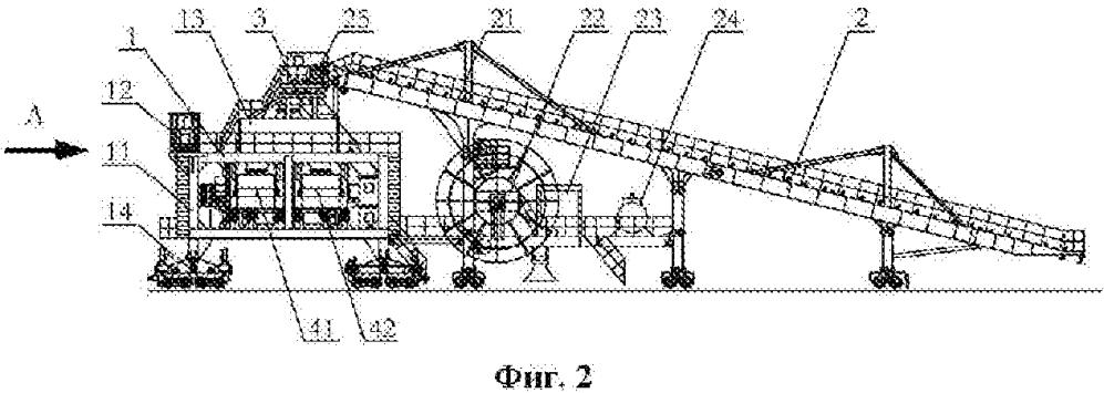 Подвижный загрузочный механизм с конструкцией со сдвоенной телескопической стрелой