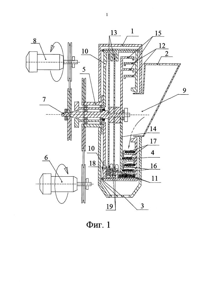 Способ и устройство для измельчения суспензии во встречных вращающихся потоках
