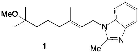 Способ получения 1-(7-метокси-3,7-диметил-2е-октен-1-ил)-2-метилбензимидазола