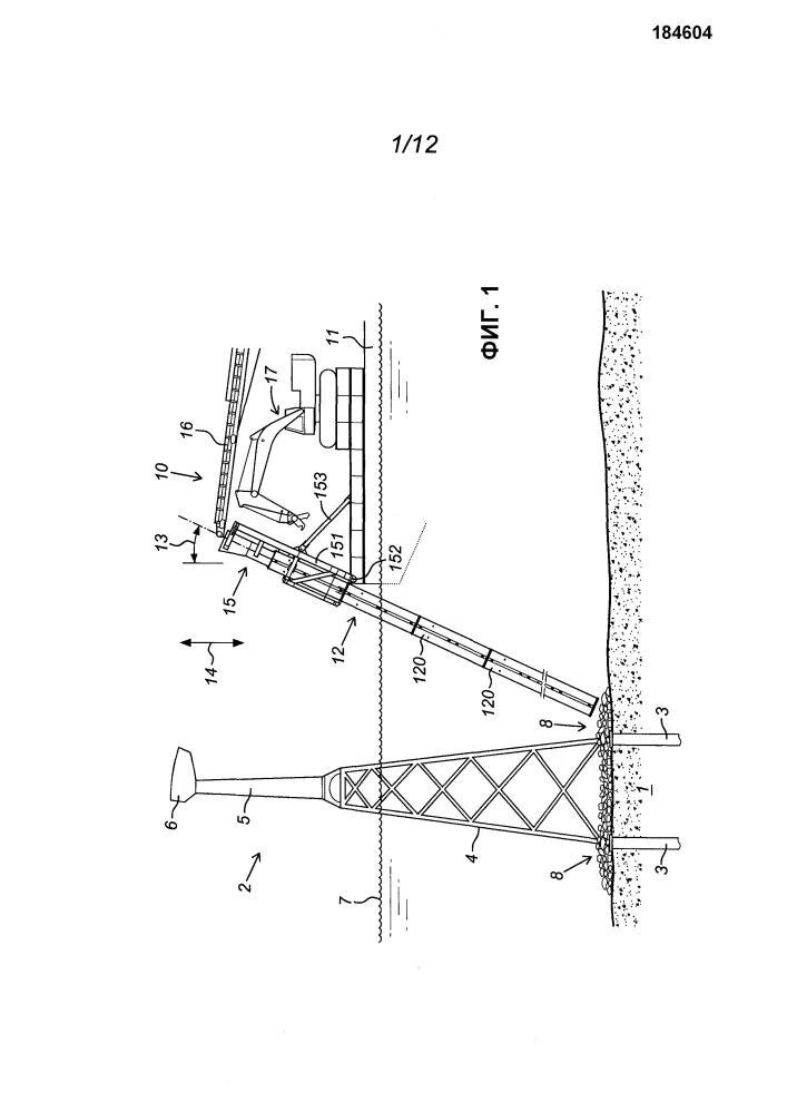 Устройство и способ укладки каменной отсыпки на заданной площадке на дне водоема