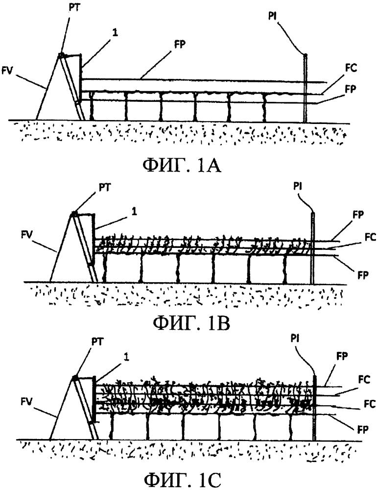 Направляющее и крепежное устройство для проволок, поддерживающих растения