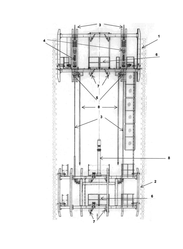 Способ возведения металлоконструкций ствола вертикальной горной выработки и армировочный агрегат для осуществления способа