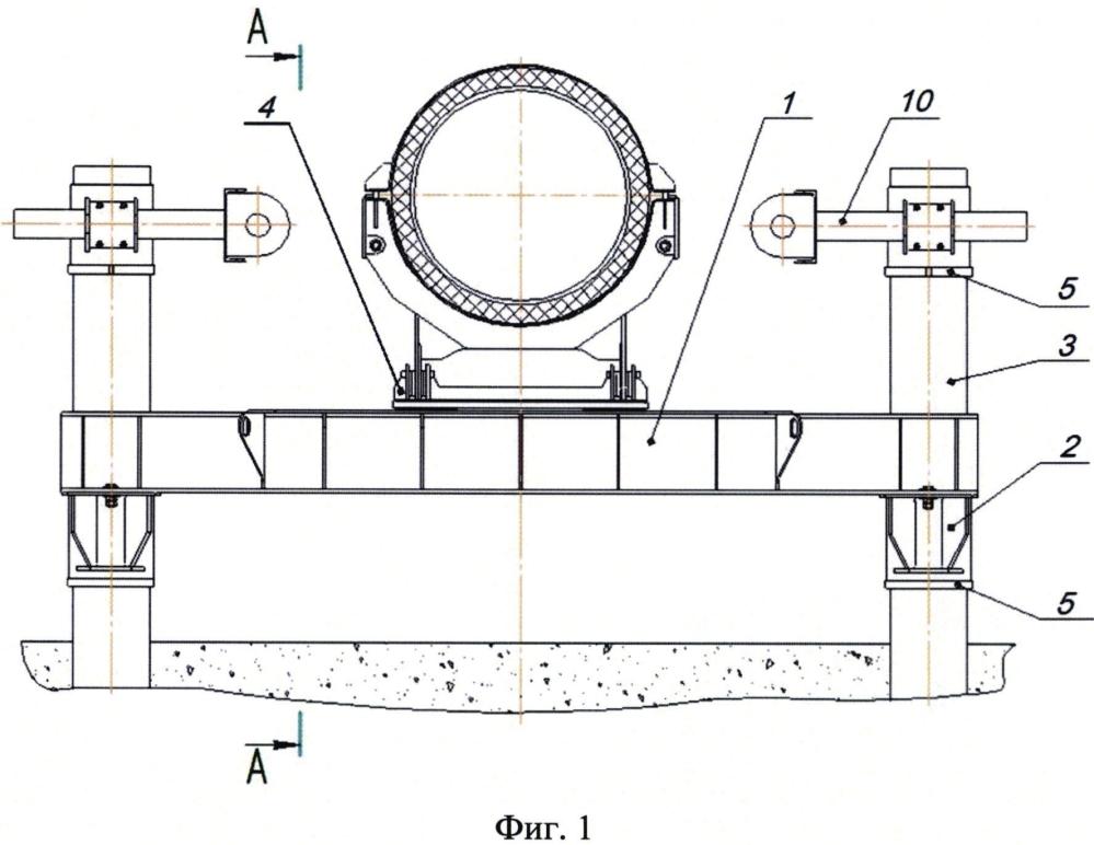 Сейсмостойкая двухсвайная подвижная опора трубопровода и демпферное устройство для сейсмостойкой двухсвайной подвижной опоры трубопровода