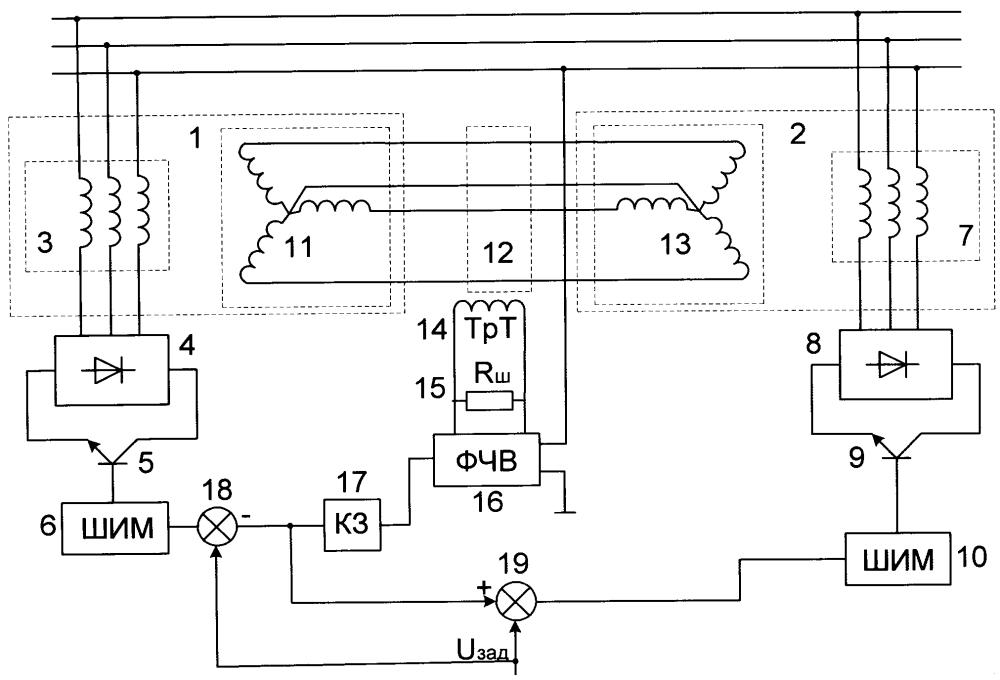 Устройство согласованного вращения асинхронных двигателей с короткозамкнутыми роторами