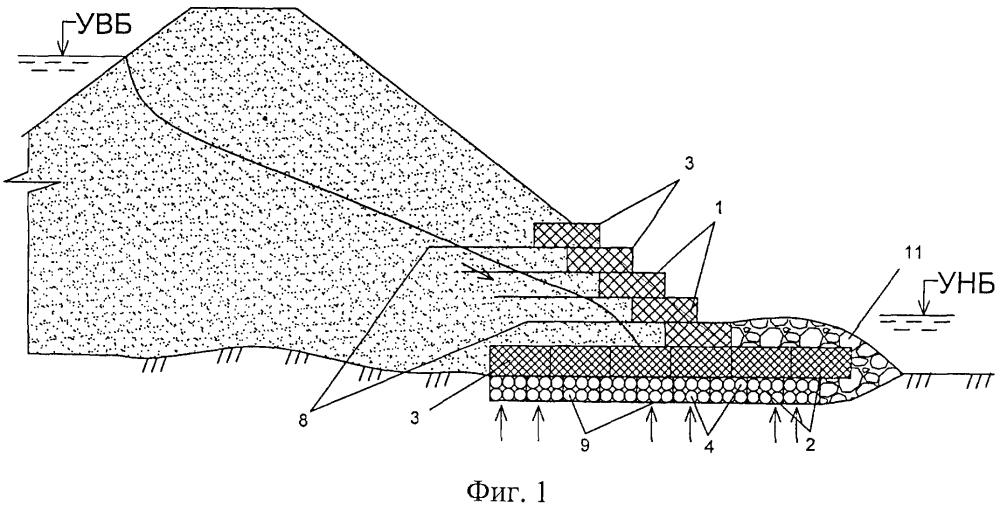 Способ возведения комбинированного дренажа земляных сооружений