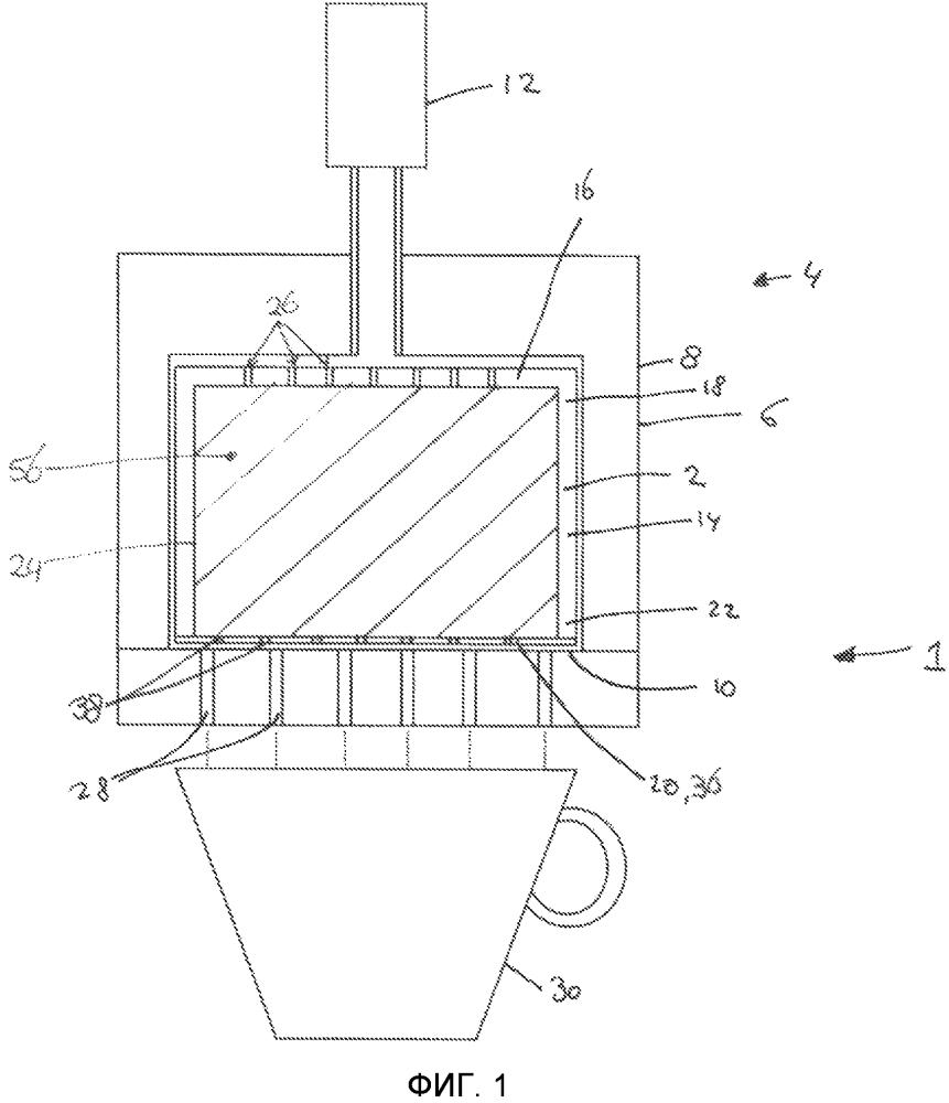 Капсула, система и способ приготовления напитка и способ изготовления таких капсул