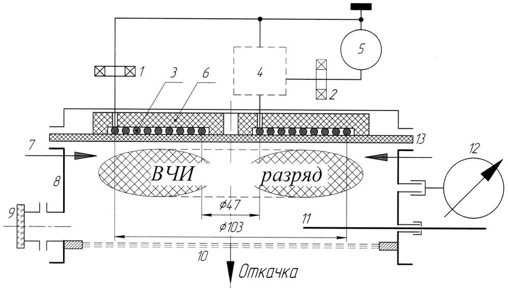 Способ интегральной диагностики вч индукционного газоразрядного устройства