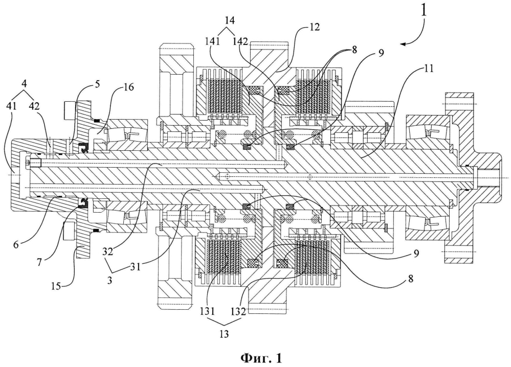 Трансмиссия для силового переключения передач и строительная машина