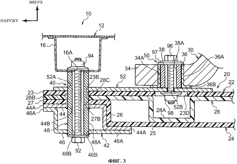 Конструкция держателя аккумулятора для транспортного средства