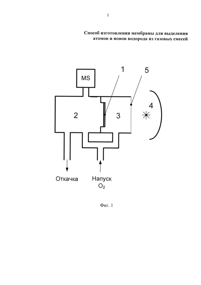 Способ изготовления мембраны для выделения атомов и ионов водорода из газовых смесей