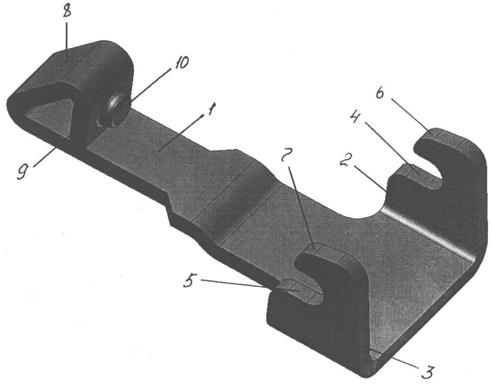 Фиксирующий механизм с зацепом для скобы ботинка