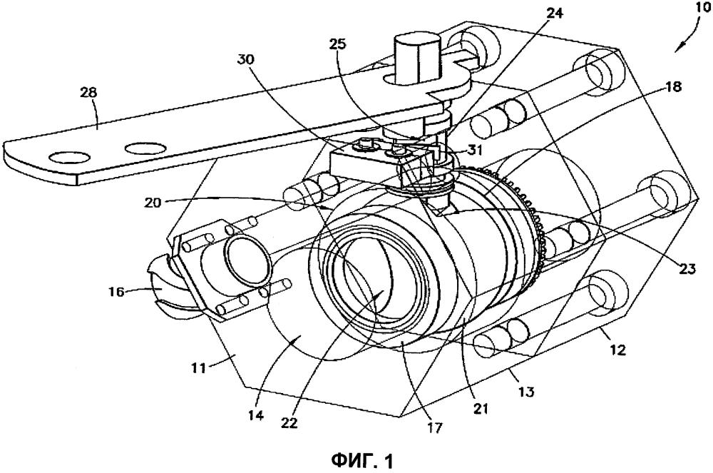 Шаровой клапан с встроенным внутренним микровыключателем, управляемым кулачком