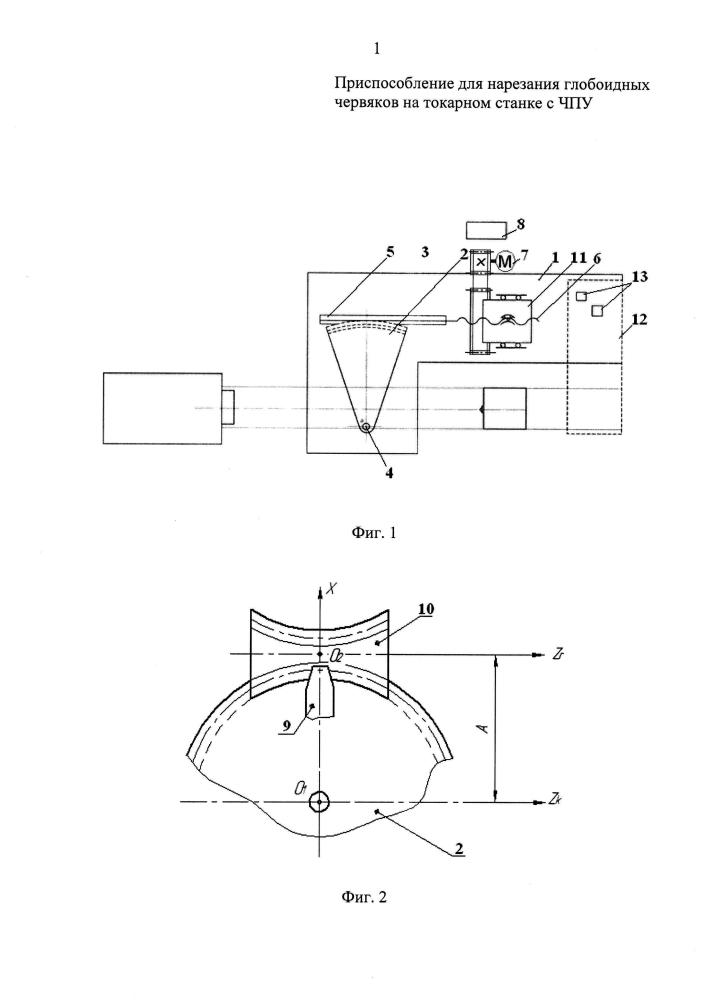 Приспособление для нарезания глобоидных червяков на станке с чпу