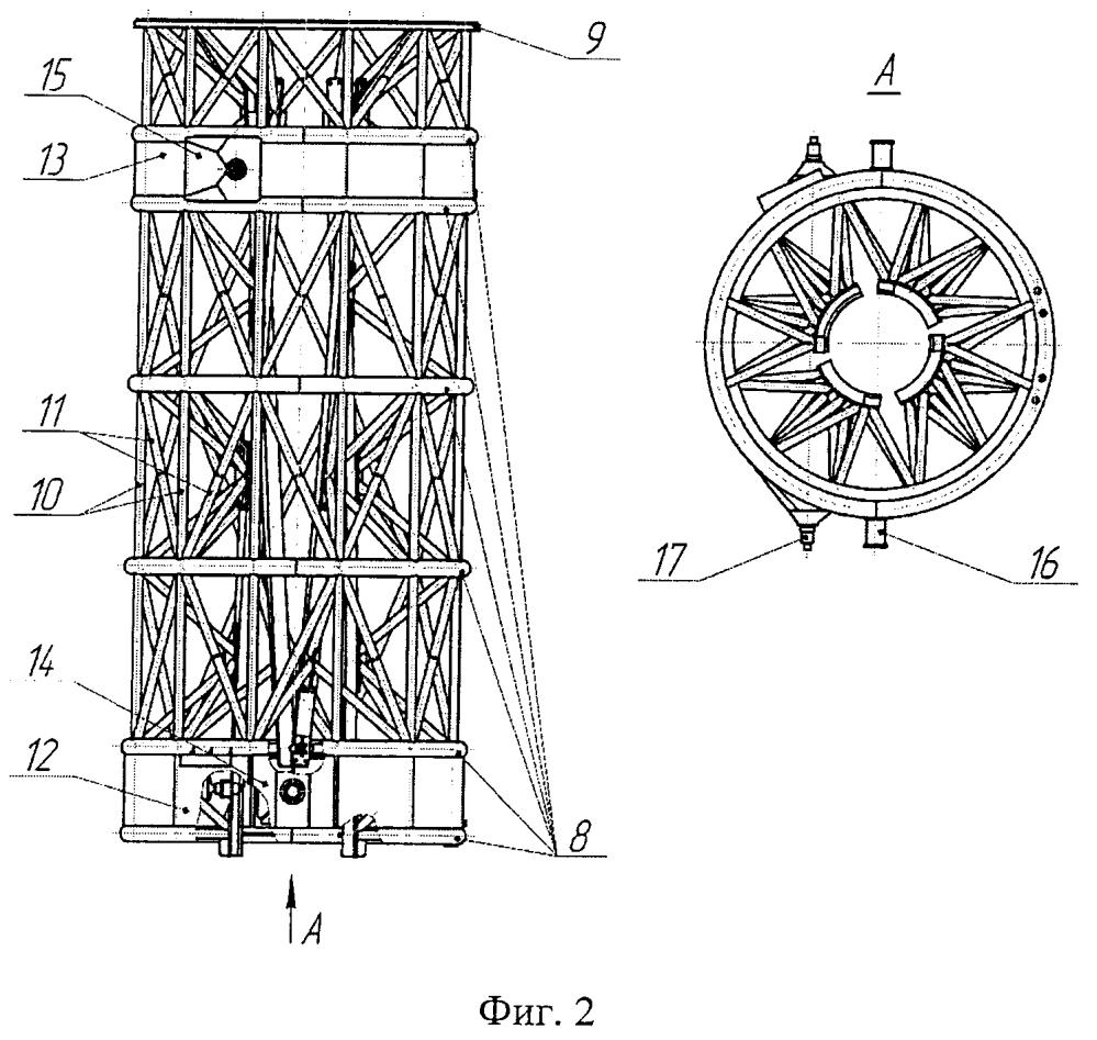 Направляющее устройство для запуска ракет