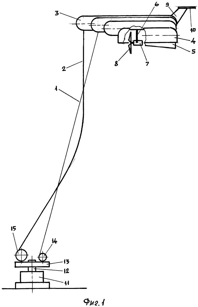 Аэростатно-плавательный ветродвигатель
