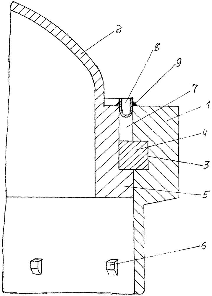 Шпоночное соединение уплотняемое мембраной
