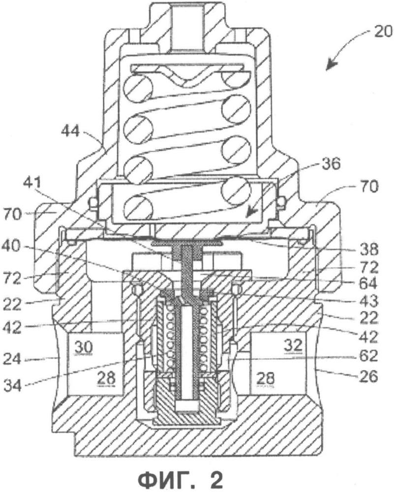 Мембранный регулирующий клапан, имеющий универсальное установочное место для мембраны