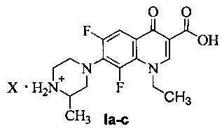 Соли бензофуроксанов с ломефлоксацином, обладающие антибактериальной активностью