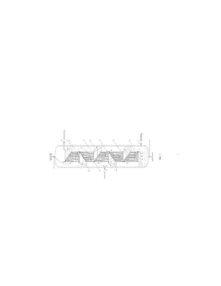 Массообменная колонна с перекрестным током жидкой и газовой фаз