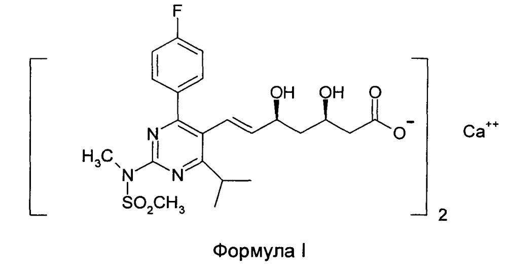 Фармацевтическая композиция, содержащая кальциевую соль розувастатина