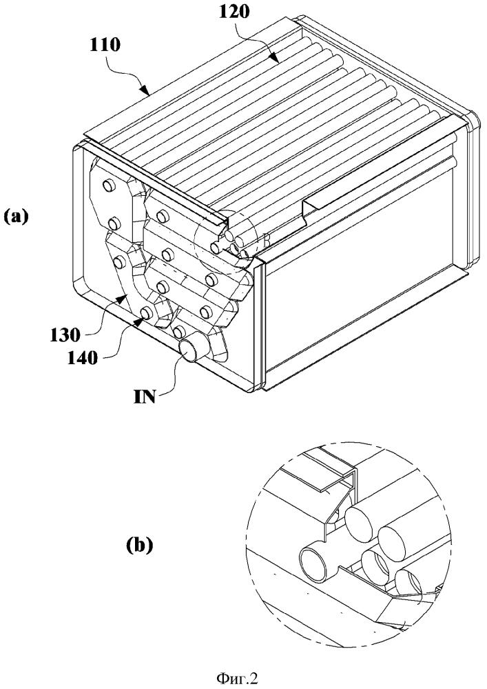 Конденсационный теплообменник с фальштрубками