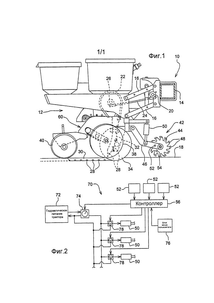 Землеобрабатывающая машина с системой прочистки засорения и способ работы