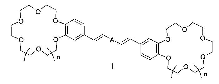 Бискраунсодержащие дистирилбензолы в качестве флуоресцентных молекулярных сенсоров для определения катионов щелочных, щелочноземельных металлов, аммония и способ их получения