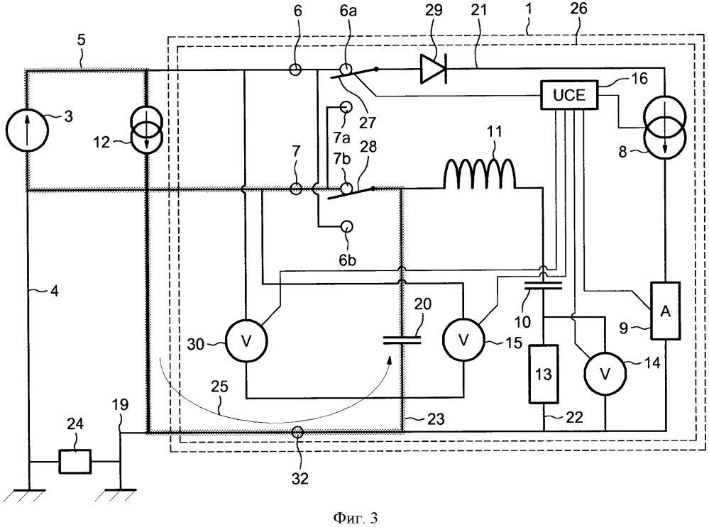 Устройство измерения сопротивления заземления и бортовое зарядное устройство для транспортного средства, оборудованное таким устройством