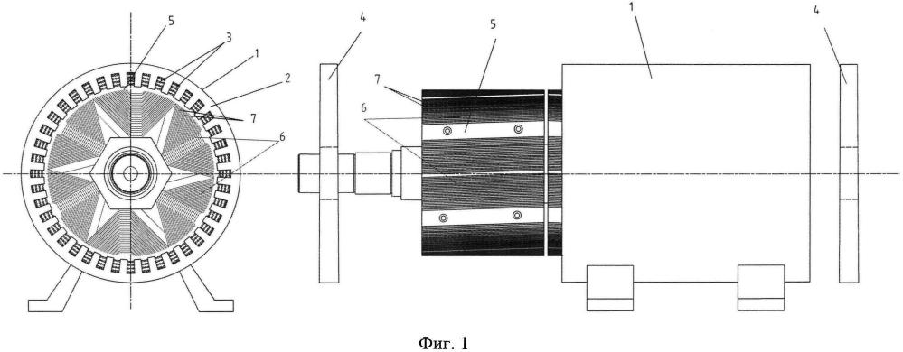 Синхронный элекродвигатель с анизотропной магнитной проводимостью ротора