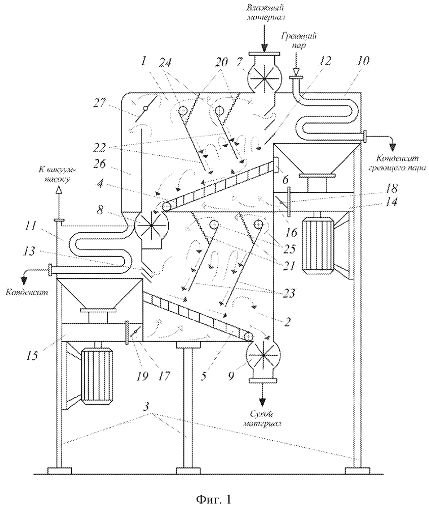 Установка для сушки дисперсных высоковлажных материалов