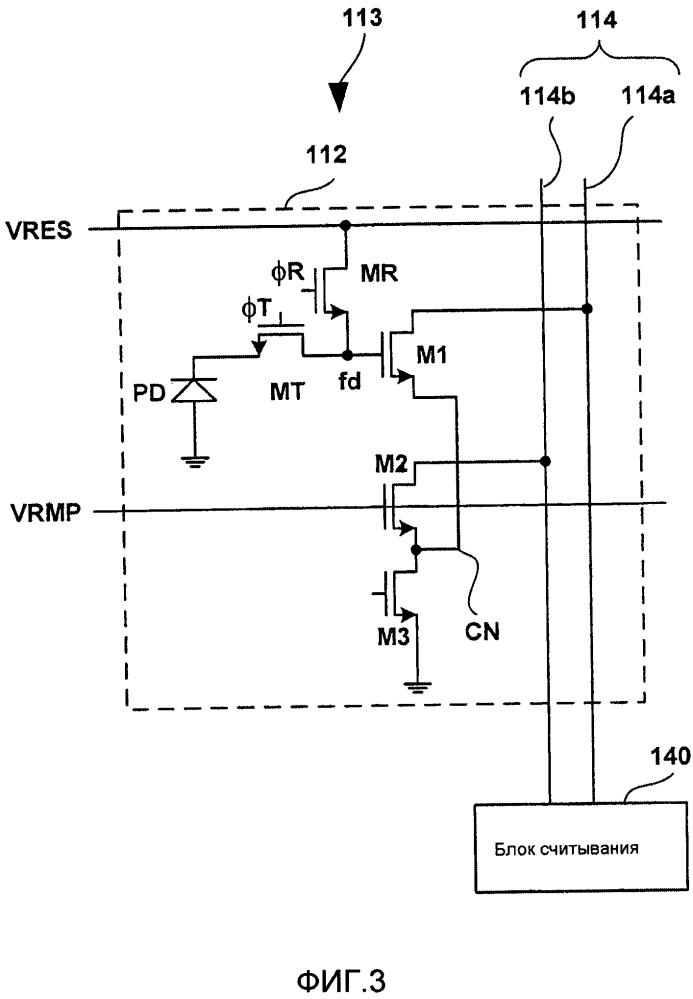 Твердотельный датчик изображения и система восприятия изображения