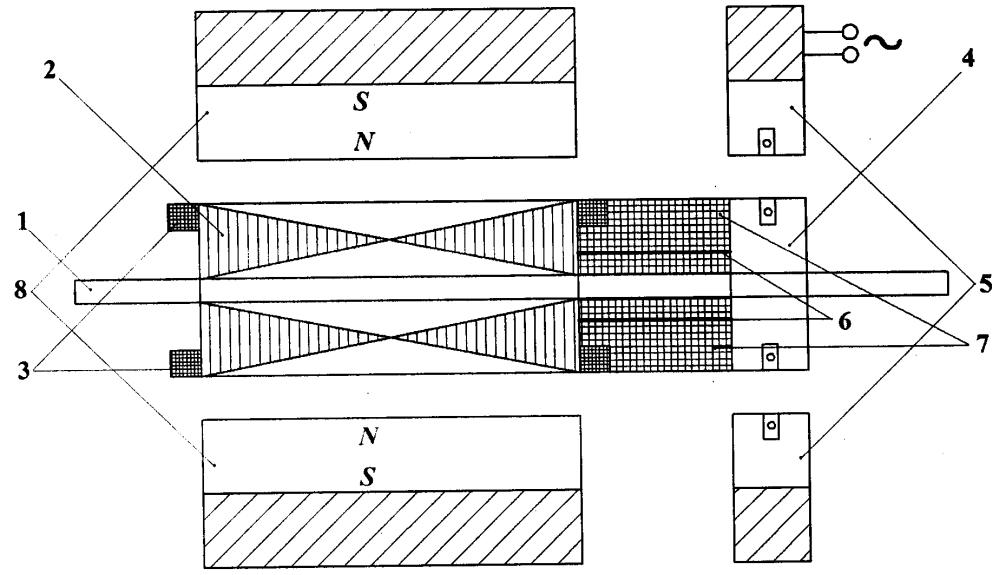Синхронный электромеханический преобразователь энергии обращенной конструкции