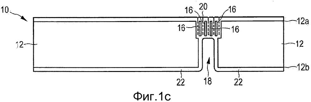 Устройство с переходными отверстиями в подложке и способ его производства