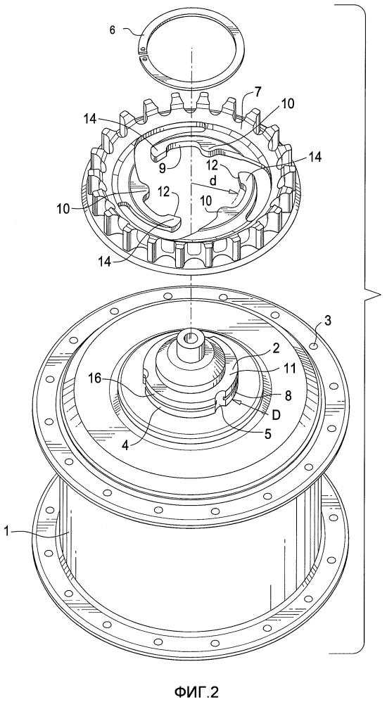 Элемент соединения вал/втулка с упругим центрирующим элементом