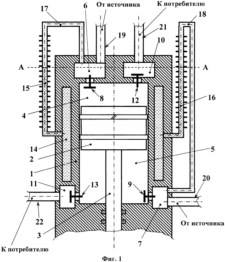 Поршневой компрессор с рубашечным охлаждением