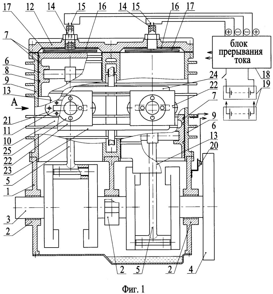 Двухтактный двигатель внутреннего нагревания