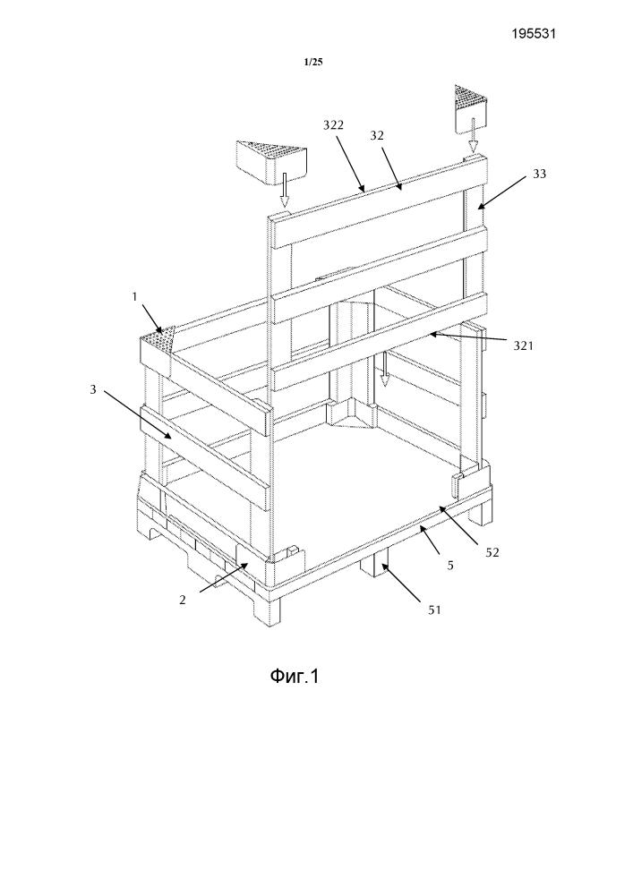 Угловая накладка для приема стенок защитного каркаса и складной защитный каркас, который может быть собран и разобран