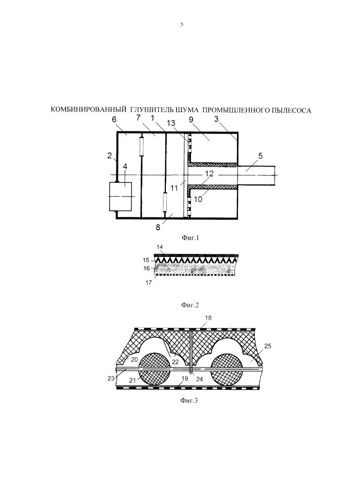 Комбинированный глушитель шума промышленного пылесоса