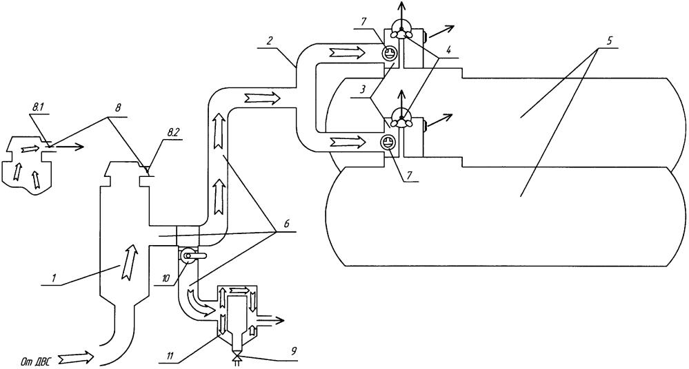 Устройство обогрева предохранительных клапанов ассенизаторской машины с помощью выхлопных газов