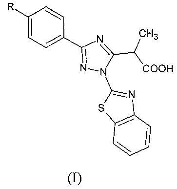 Замещённые 2-(1,3-бензотиазол-2-ил)-3-фенил-1н-1,2,4-триазол-5-ил) пропановые кислоты и способ их получения