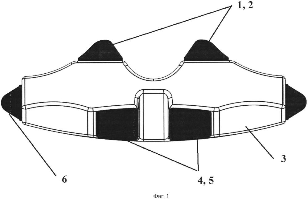 Массажёр для воздействия на мышцы спины трех отделов позвоночника
