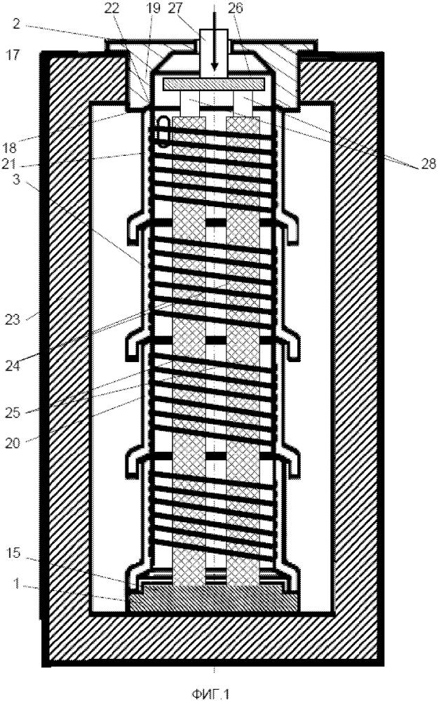 Камера термической печи для высокотемпературной обработки стержневых деталей