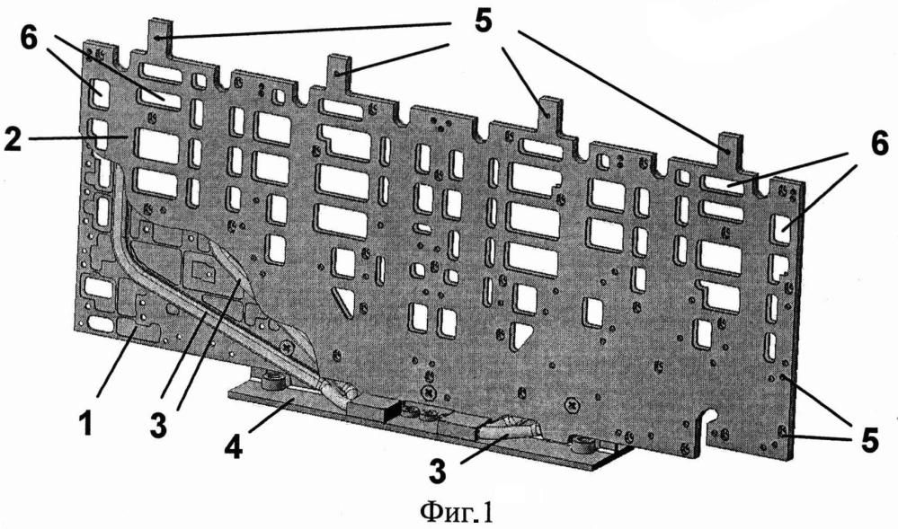 Теплопроводящее основание радиоэлектронного блока