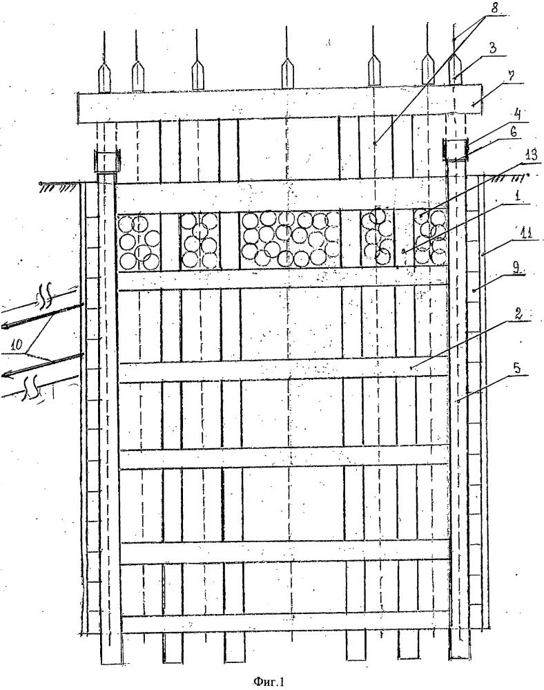 Способ строительства подземного многоэтажного сооружения